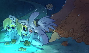 30min Challenge - Derpy and the Mirror Pool by atryl