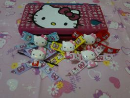 Hello Kitty hair bows by Hotaru-oz