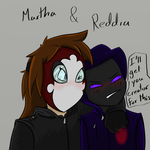 Reddia And Creep Martha by SageHedgehog
