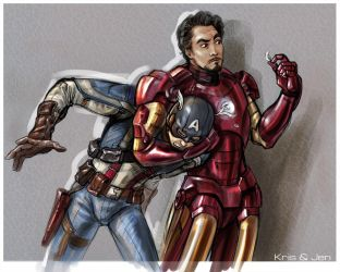 Steve and Tony. by jen-and-kris