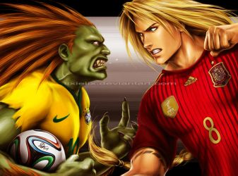Street Fighter: 2014 FIFA World Cup Edition.. lol by TixieLix