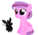 Sprinkle and her bat :D by Oak-Storm