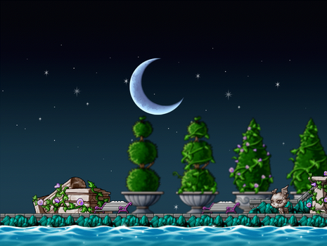 Fortykoubuns 78 12 Midnight Stroll Custom Background By EightQueens