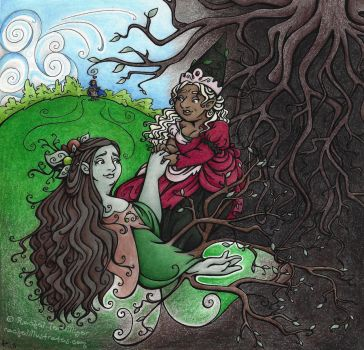 Eurydice in Hades by rachelillustrates