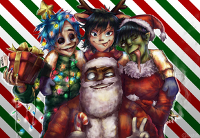 Merry Christmas from Gorillaz by HoldSpaceShift