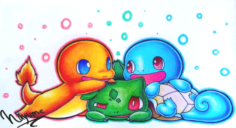Starters friends by Nay-Hime