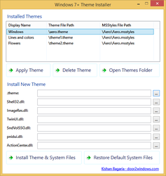 Windows 7+ Theme Installer by Kishan-Bagaria