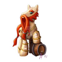 Gragas My Little Pony by sterlingsilver