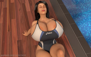 Vanessa - Poolside lounging (alt 1) by colortwist