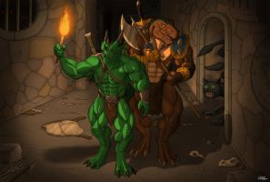 Commission: In the Deep Dungeon by TargonRedDragon