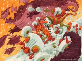The Great Snowman Race by RobbVision