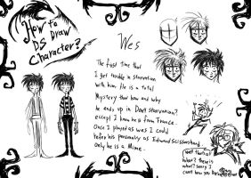 How To Draw DS Character Wes by RavenBlackCrow