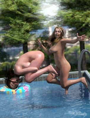 Pool Party Concept .4 by erogenesisCGI