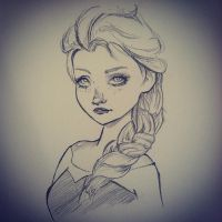 Elsa The Snow Queen by mejia29