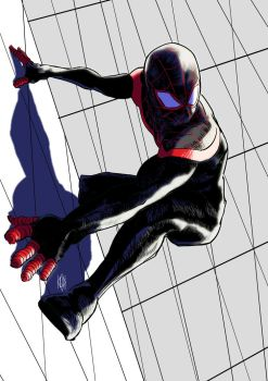 Spider-Man Miles Morales by BlackCrow06