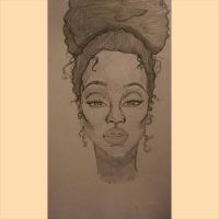 African american woman by Chellemybell90