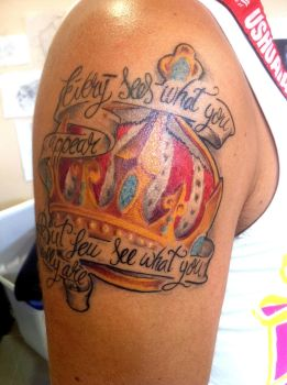 Tattoo Crown color by dOOmCANS
