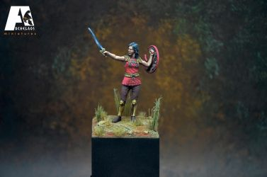 Antianeira, commander of Amazons 54mm by Herakleides