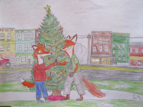 Remy meets Nick Wilde by Remyfox819