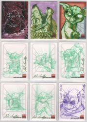Star Wars Galaxy 5 sketchcards by britbrakdown