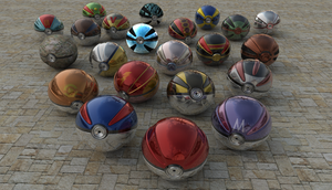 All Kind Of Realistic Pokeballs (V3) by FinnAkira