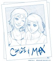Chloe and Max Polaroid by Velocimander