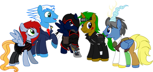 Ponies who cosplay by BlueThunder66