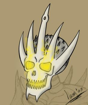 Skeleton King's Head Colored by GodNo1