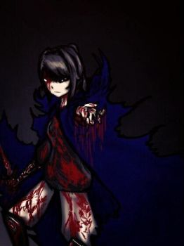 Demon Yandere-chan by DarkRavenDemon
