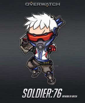 Overwatch - Soldier:76 by HayzenR