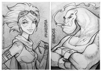 P and G sketchcards by KelleeArt