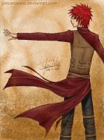New Outfit - Gaara by juesanosano