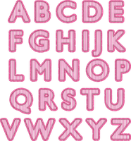 Alpha: Pink Stitch Fabric by HGGraphicDesigns