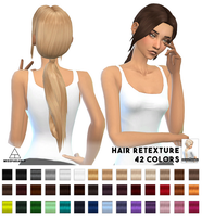 [MMD] Sevenhills Sims Zoey Hair (+DL) by AppleWaterSugar