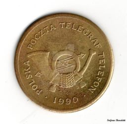 Poland - Telephone Coin of 1990 by Book-Art