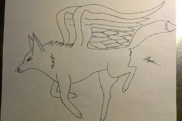 A winged wolf by Max-Legion