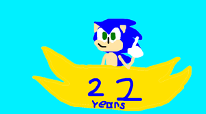 Sonic's 22th anniversery by sonicth4