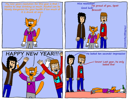 Dan Comics No.28 - New Year by The-Happy-Spaceman