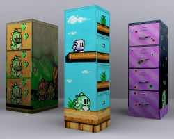 Bubble Bobble File Cabs Render by nintentofu