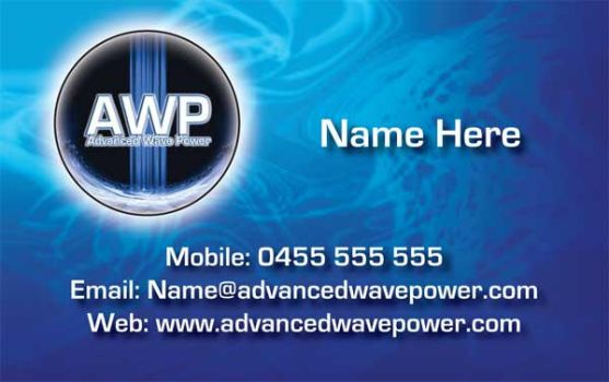 Business Card for AWP by Titaniumfx