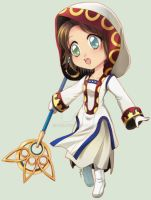 [Com] White Mage Yuna Chibi by Zue