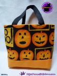 Handmade Tiny Tote Bag Featuring pumpkins by SKGaleana