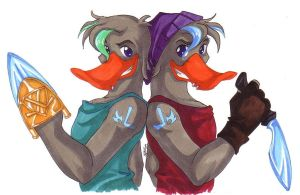 Twin Ducks by KiraSaintclair