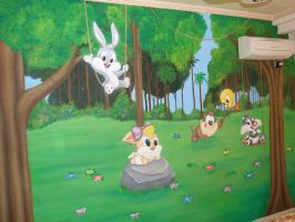 looney toons mural 3 by Theatricalarts