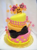 Topst turvy baby shower cake by see-through-silence