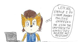 Sally Acorn - Cyber Monday sticky situation by dth1971