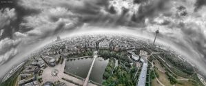 Cologne Panorama - 360 degrees by BenHeine