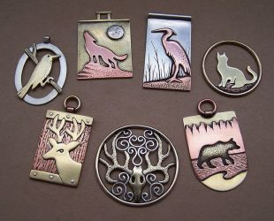 Mixed metal jewelry 4 by Astalo