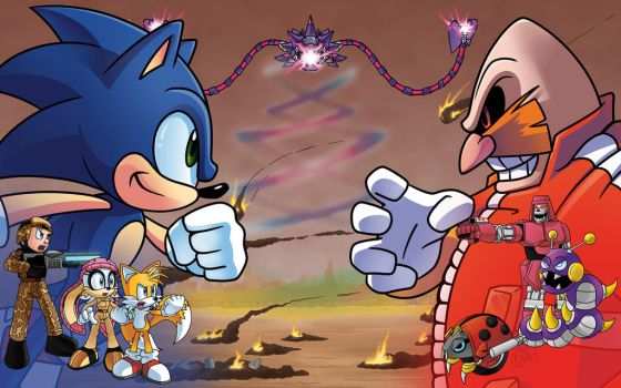 StC #272 Cover: Final Act - Sonic Vs. Robotnik by DarkNoise-Studios