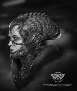 Sigourney Weaver - Alien Suit - Illustration by Rhythem02